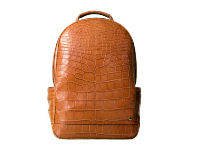 Brighton Flat Front Backpack Honey Alligator