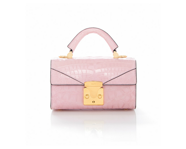 Top Handle 2.0 Mini Pink Alligator