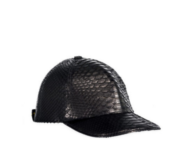 The Big Deep Baseball Hat Black Python