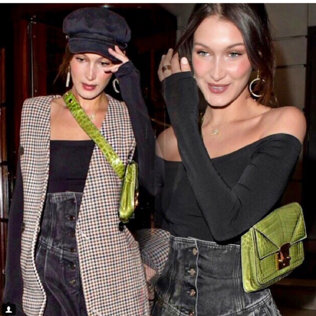 Bella Hadid wearing the Kiwi Belt Bag 2.0