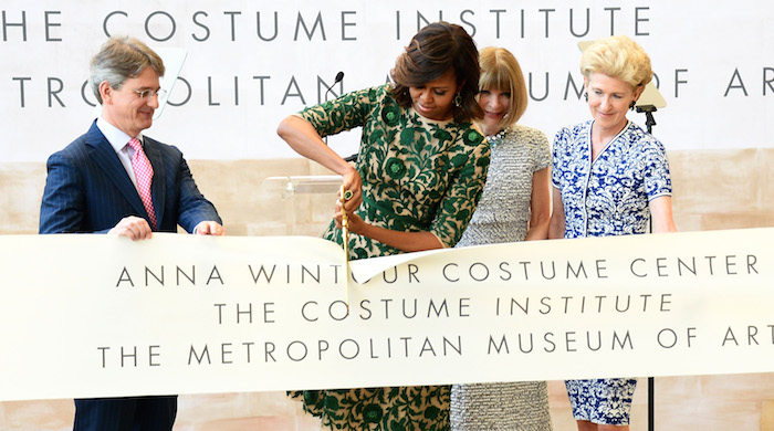 Michelle Obama officially opens the Anna Wintour Costume Center