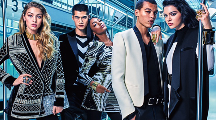 Kendall, Jourdan and Gigi star in the new H&M x Balmain campaign