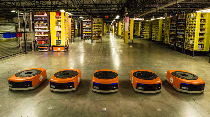 A look at how Amazon is using robots to keep up with demand