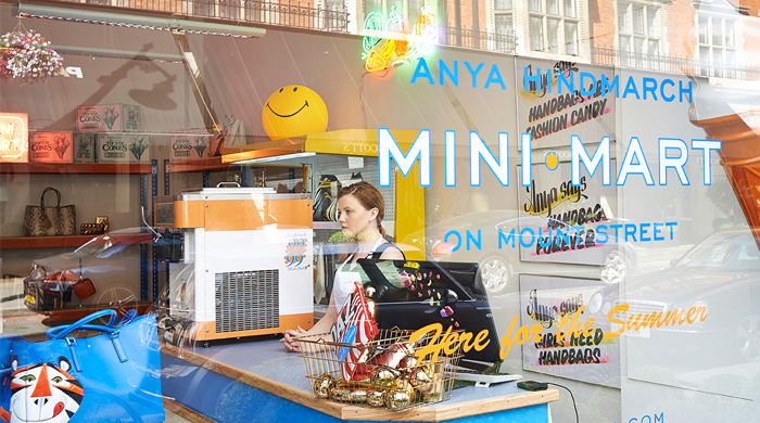 Anya Hindmarch launches 'Mini-Mart' in London