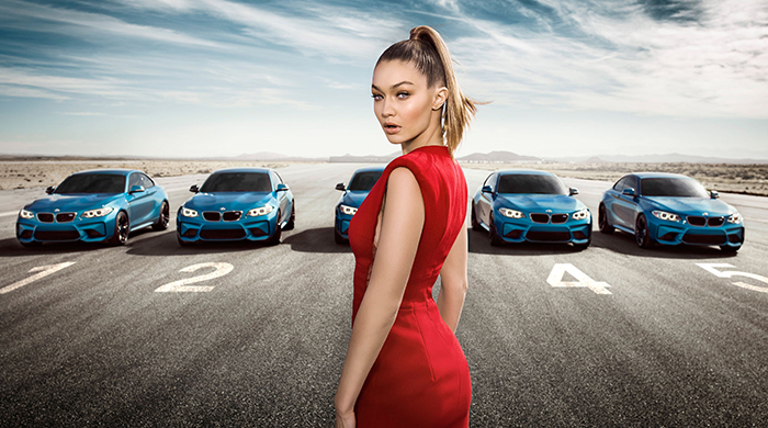 "BMW asks: ""Can you keep your eyes on Gigi?"""