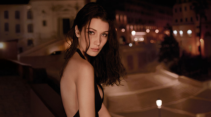 Bella Hadid fronts Bvlgari's new Goldea The Roman Night Absolute fragrance