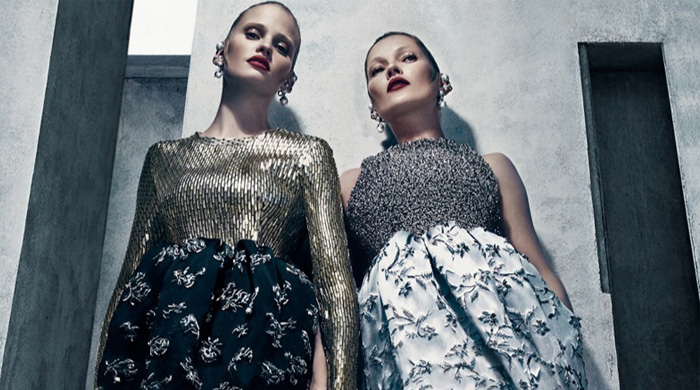 Full look: The Balenciaga campaign starring Kate Moss and Lara Stone