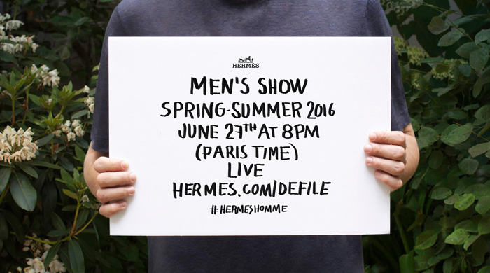 Closer than the front row: The Hermès SS16 show live from Paris