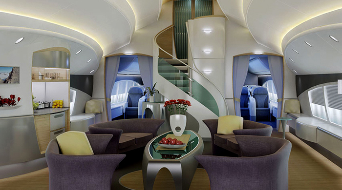 Boeing and Airbus jets transformed for billionaires