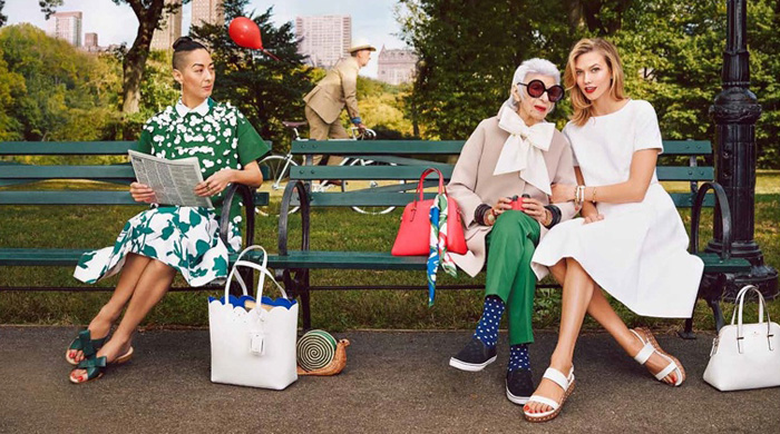 93-year-old Iris Apfel joins Karlie Kloss for Kate Spade campaign