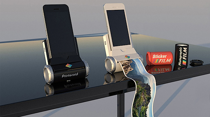 The new portable iPhone and iPad polaroid printer
