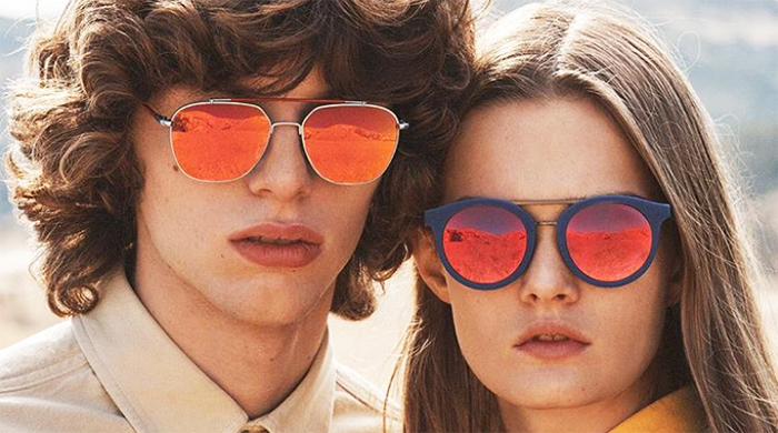 Raf Simons has designed his first complete eyewear collection for Calvin Klein Inc.