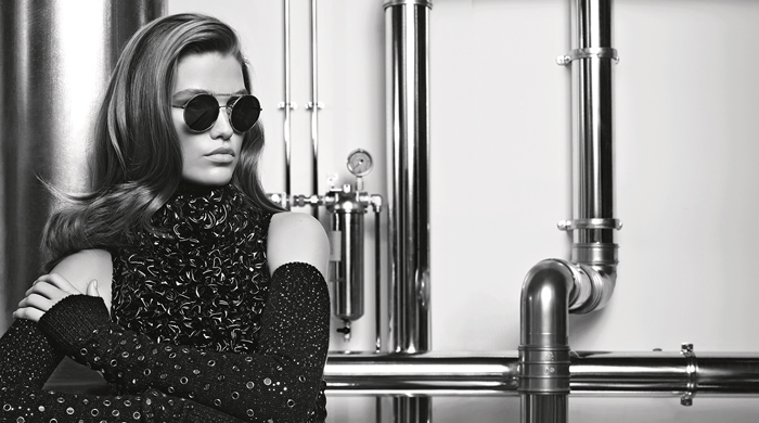 First look: Chanel eyewear by Karl Lagerfeld featuring model of the moment Luna Bijl