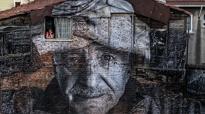 Artist JR exhibits new installation on the streets of Istanbul