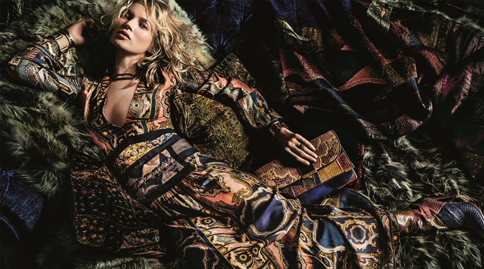 See Kate Moss in the new Etro campaign for Autumn/Winter 15