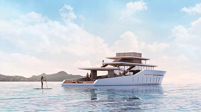 Yacht for a fashion designer: La Petite Terrasse