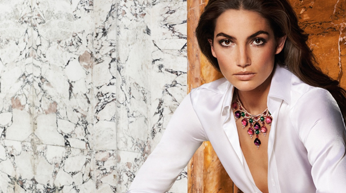 Lily Aldridge and her Bulgari Divas' Dream