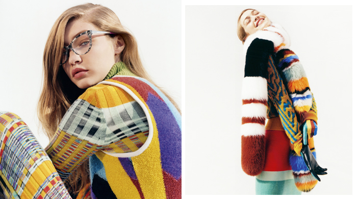 New look layering: Gigi Hadid fronts Missoni's new campaign