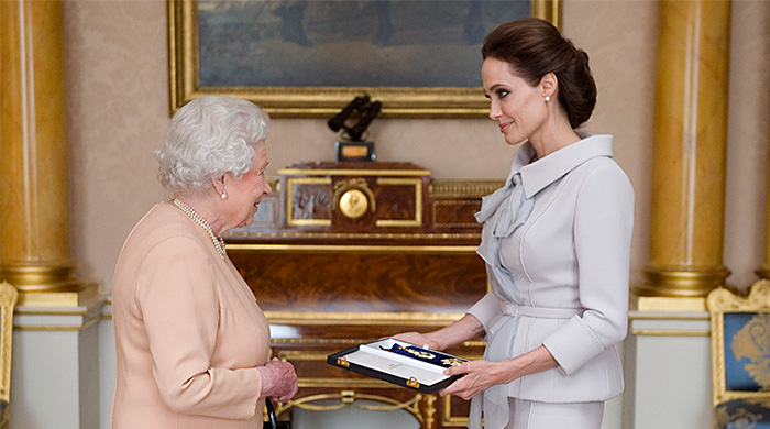 Queen Elizabeth II declares Angelina Jolie an honorary dame