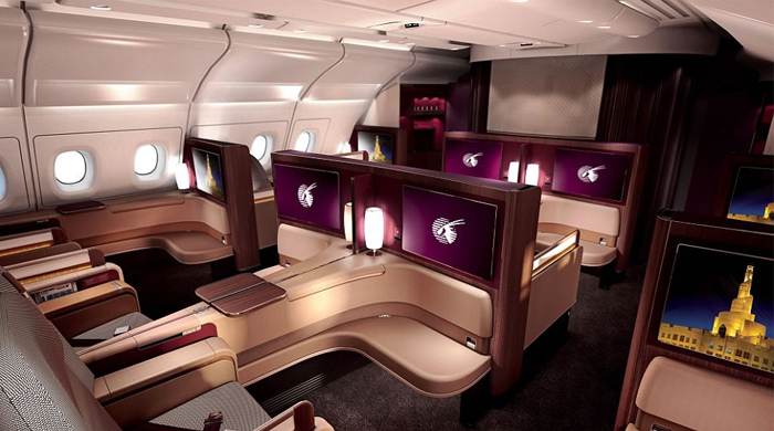 Qatar Airways A380 jets boast a superior First Class cabin with Armani products
