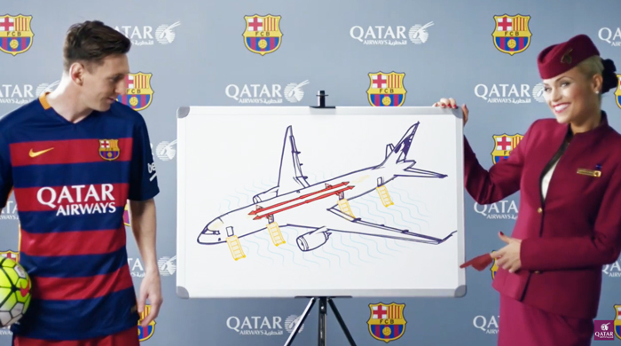 Qatar Airways team up with FC Barcelona for safety video