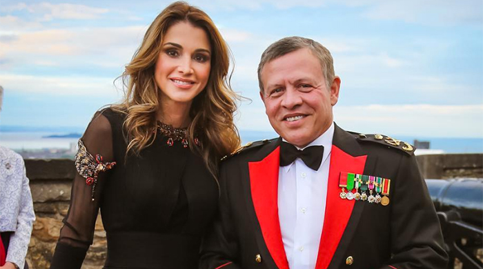Spotted: Queen Rania attends the 2016 Royal Edinburgh Military Tattoo