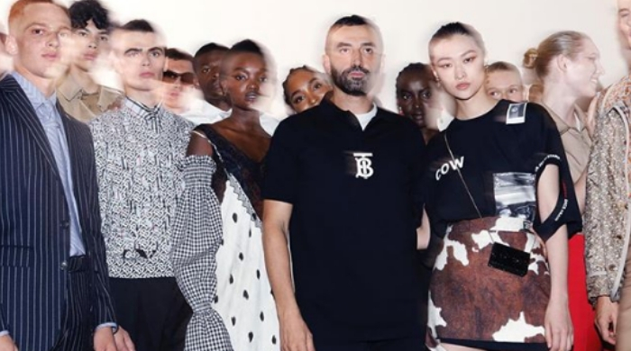 Riccardo Tisci makes his debut for Burberry
