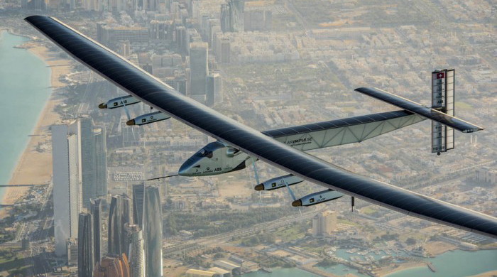 Solar Impulse 2 leaves Abu Dhabi for record-breaking global flight