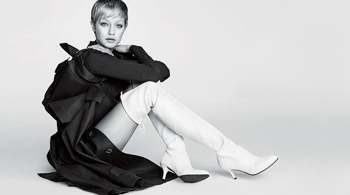 First look: Gigi Hadid's new look for Stuart Weitzman's FW17