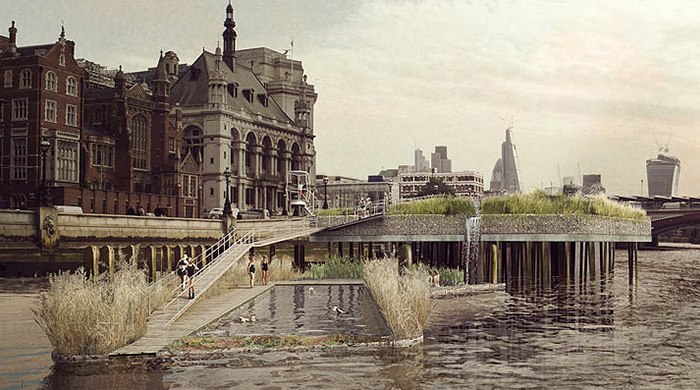 Swimming pools for the River Thames