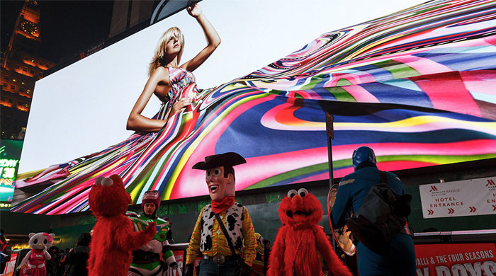 New York's Times Square reveals its biggest and most expensive LED billboard