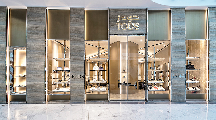 Tod's has officially opened its new boutique in The Dubai Mall's extension