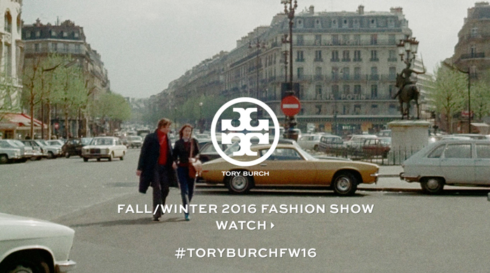 Live streaming: Tory Burch Fall/Winter '16 New York Fashion Week show