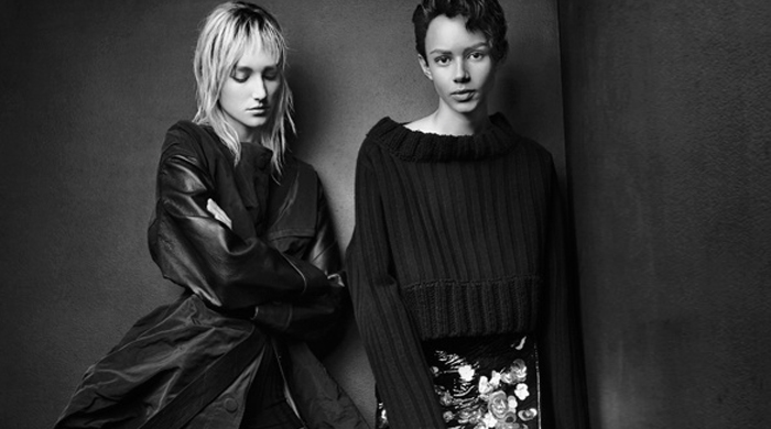 Binx Walton and Josephine Le Tutour front new Vera Wang campaign