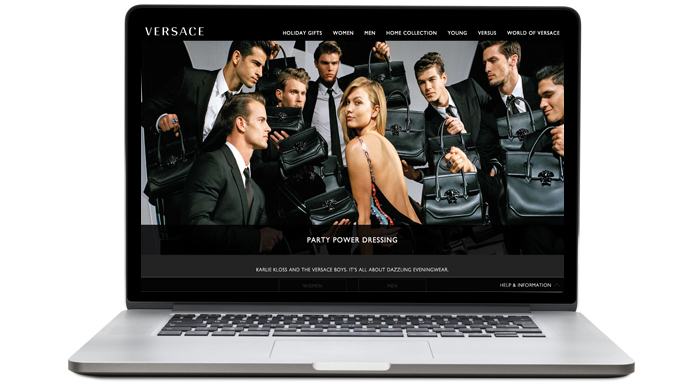 New look: Versace launches revamped digital site