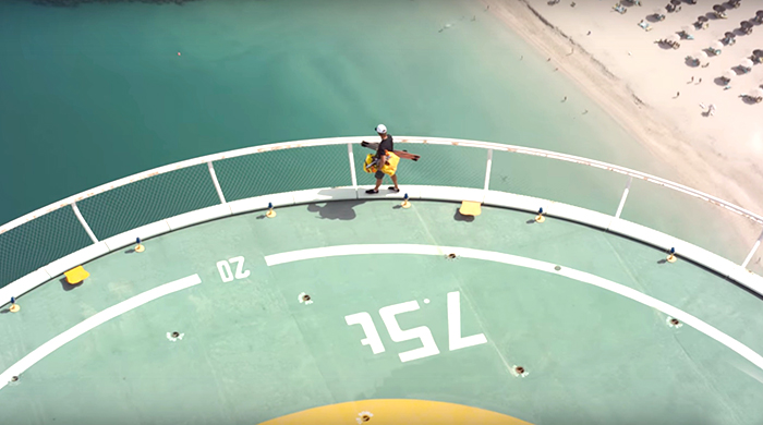 Watch XDubai and Mercedes's record-breaking stunt at Burj Al Arab