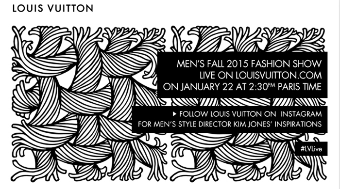 Watch the Louis Vuitton AW15 show live from Men's Fashion Week in Paris