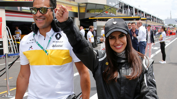 Aseel Al-Hamad drove a Formula One car to celebrate the lifting of the driving ban