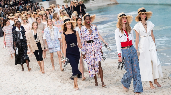 Karl Lagerfeld built a beach in the Grand Palais for Chanel's S/S '19 show