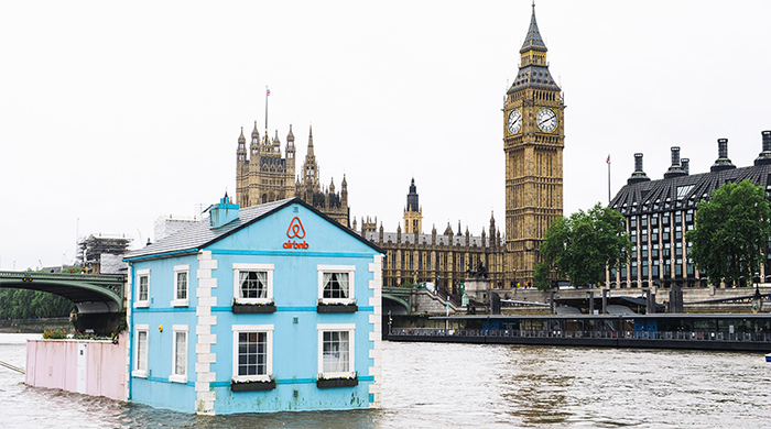 Airbnb offer a night in a floating home on the River Thames