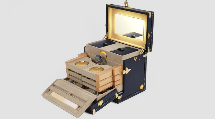 Moynat's beauty case with Guerlain and the Orient Express