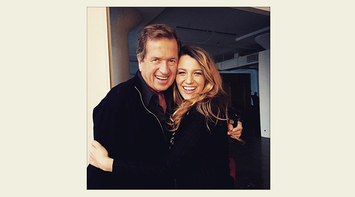 Blake Lively poses for her first post-baby shoot with Mario Testino