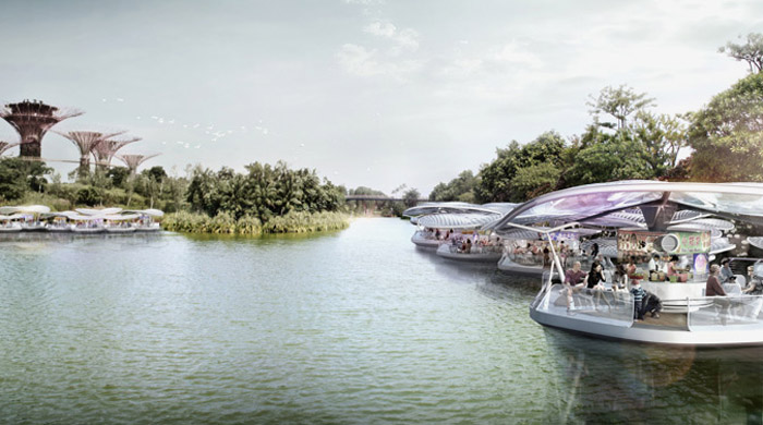 Designs released for floating hawker centre in Singapore