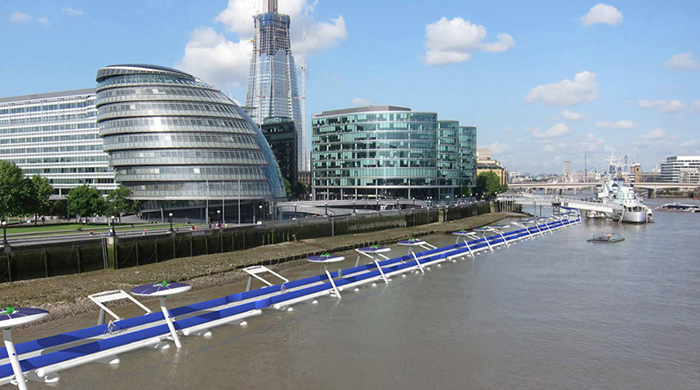 A floating cycle path has been proposed for the River Thames