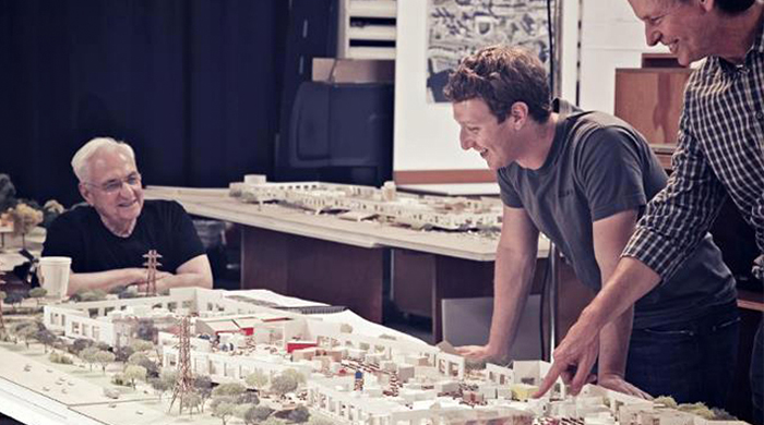 Frank Gehry is said to be building two more offices for Facebook
