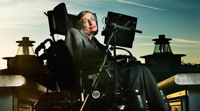 Fast talker?: Hawking's voice is downloadable and seeking upgrades
