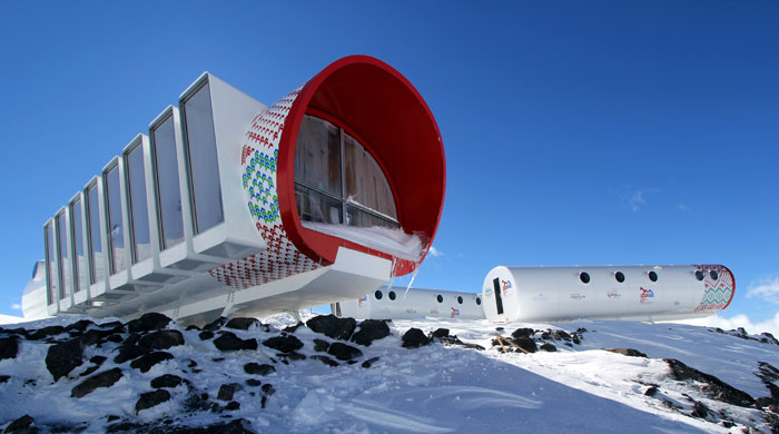 Russia's new mountain top eco hotel