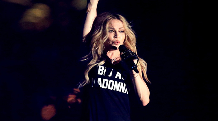 Madonna makes a surprise appearance at Coachella wearing Moschino with Drake
