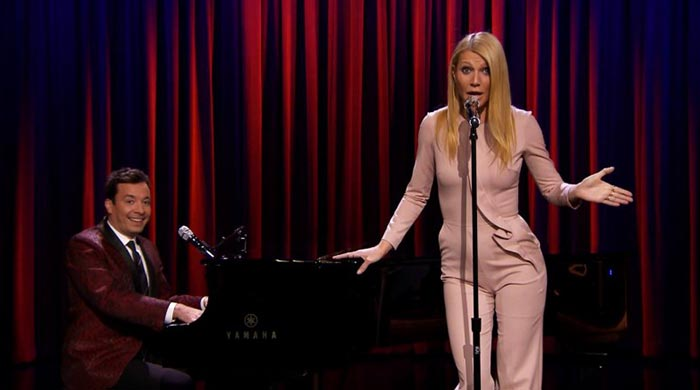 Gwyneth Paltrow raps for The Tonight Show with Jimmy Fallon