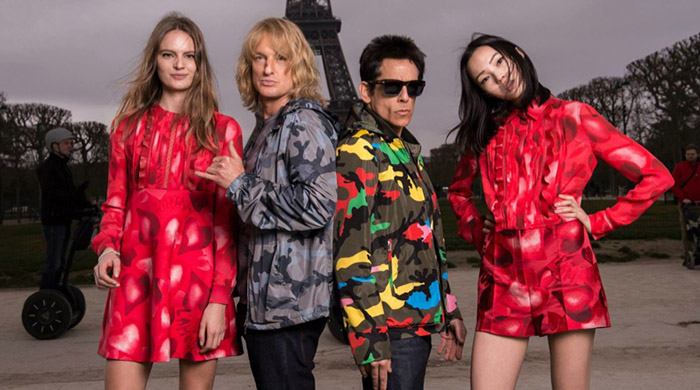 Zoolander and Hansel in new Valentino photoshoot with Xiao Wen Ju and Tilda Lindstam